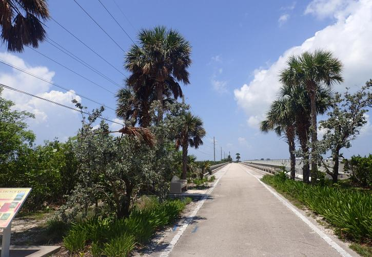 View of the Florida Keys Overseas Heritage Trail at Saddlebunch #3 bridge