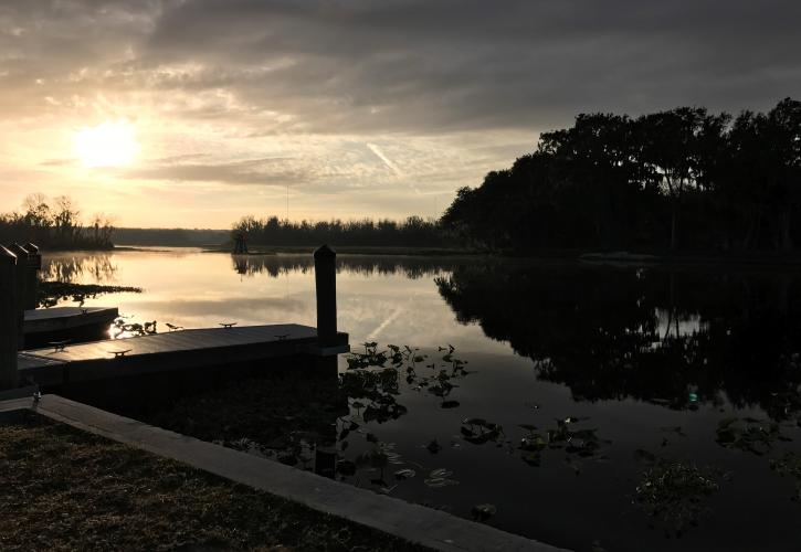 Sunrise on the St. Johns River at Hontoon Island State Park