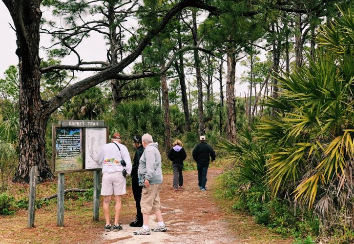 Visitors walking on Osprey Trail