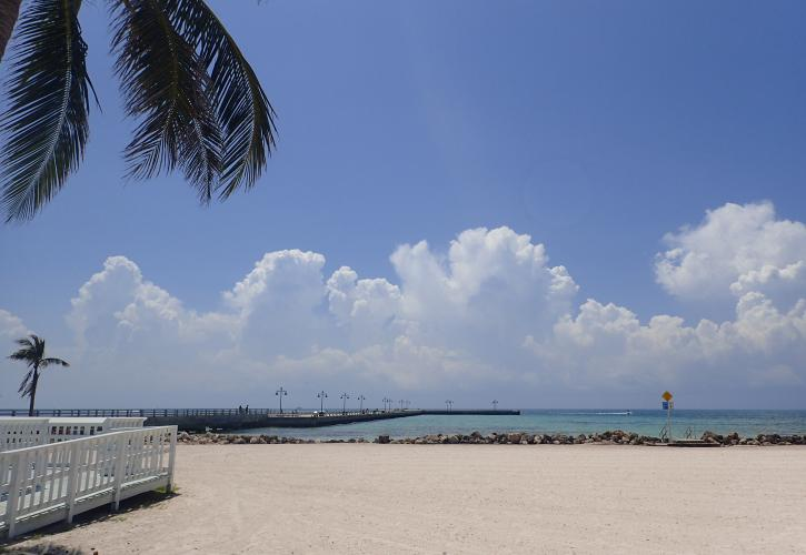 View of the beach in Key West from the Florida Keys Overseas Heritage Trail