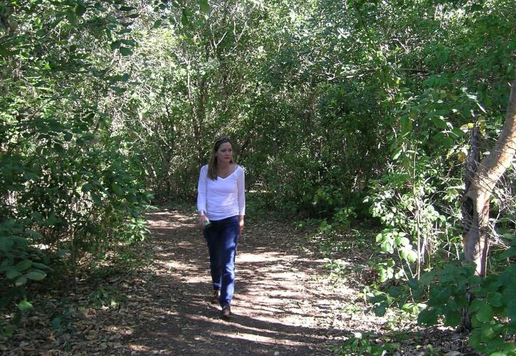 Walking the nature trail