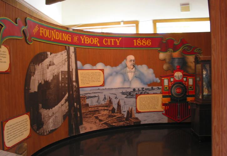 A view of an exhibit inside the museum.