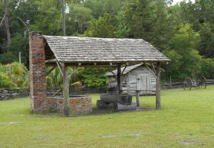 Kettle and Smoke house at Forest Capital Museum State Park