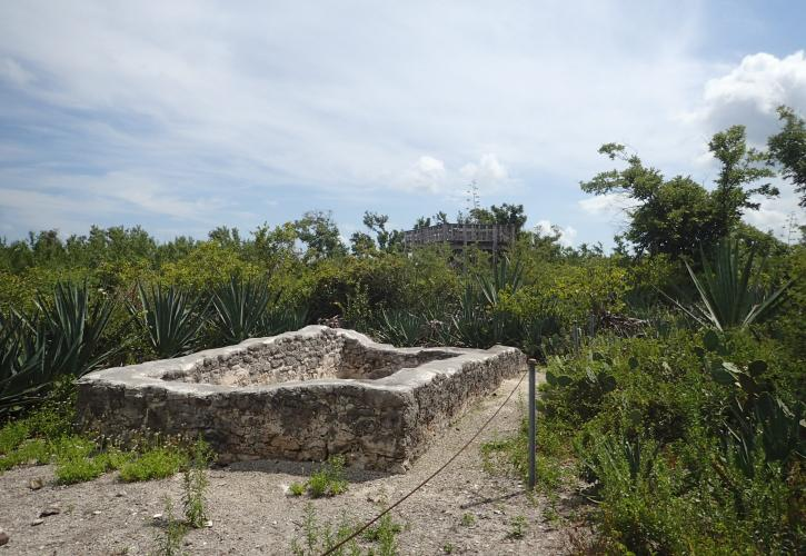 Rock Foundations of cottages found on Indian Key