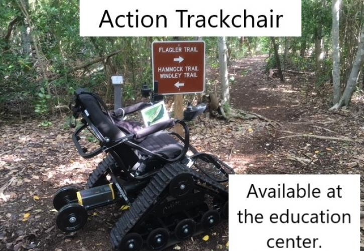 Action Trackchair available to checkout from the Education Center