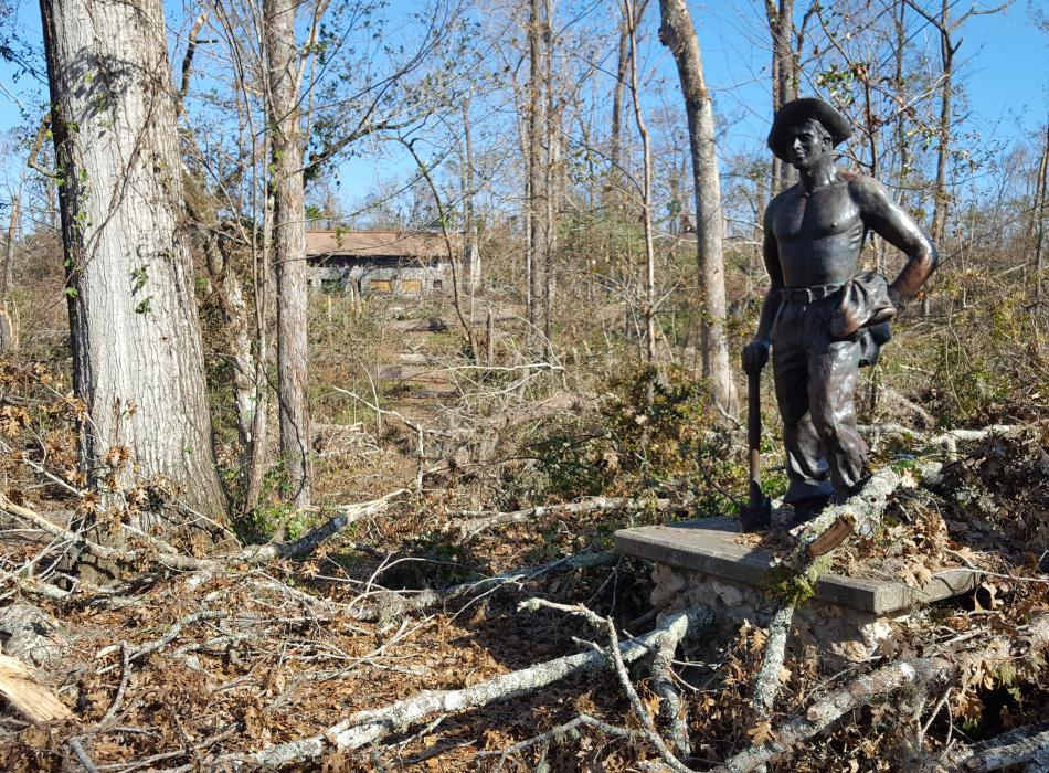 Florida Caverns Post Hurricane CCC Statue